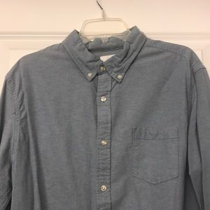 Casual medium blue button down - LARGE
